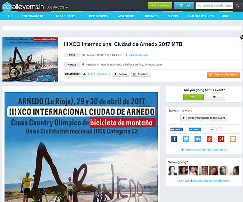 III XCO Internacional Ciudad de Arnedo en All Events