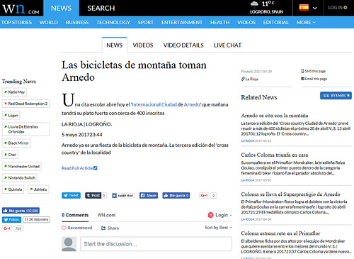 III XCO Internacional Ciudad de Arnedo en World News (2)